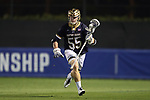 DURHAM, NC - APRIL 28: Notre Dame's Robert Collins. The Duke University Blue Devils played the University of Notre Dame Fighting Irish on April 28, 2017, at Koskinen Stadium in Durham, NC in a 2017 ACC Men's Lacrosse Tournament Semifinal match. Notre Dame won the game 7-6.