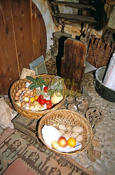 Kajtaz Turska Kula, Kajtaz Turkish House, food on display in kitchen, Mostar, Bosnia Herzegovina, Former Yugoslavia