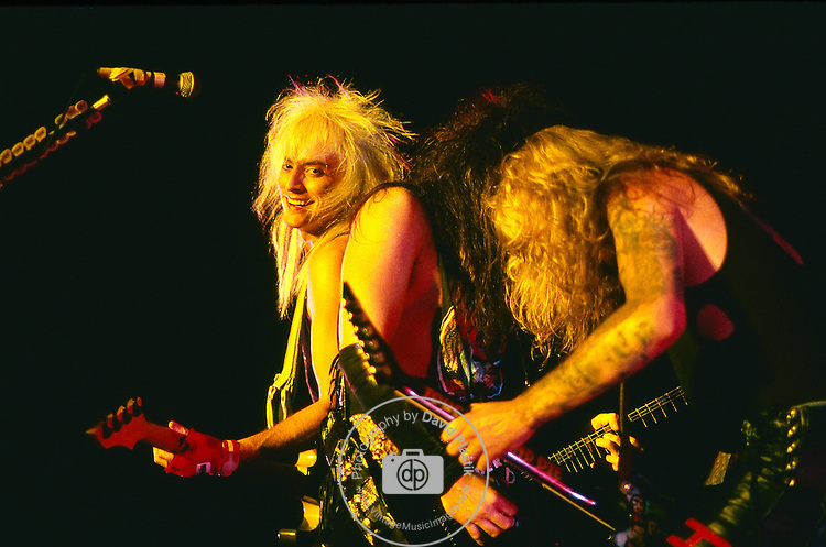 WASP - Johnny Rod, Blackie Lawless,Chris Holmes- performing live in Los Angeles -Aug 1989