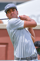 Tony Finau (USA) watches his tee shot on 1 during round 3 of the Dean &amp; Deluca Invitational, at The Colonial, Ft. Worth, Texas, USA. 5/27/2017.<br /> Picture: Golffile | Ken Murray<br /> <br /> <br /> All photo usage must carry mandatory copyright credit (&copy; Golffile | Ken Murray)