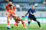 Gamba Osaka Midfielder Ideguchi Yosuke (R) in action against Jeju United Midfielder Kwon Soonhyung (L) during the AFC Champions League 2017 Group H match Between Jeju United FC (KOR) vs Gamba Osaka (JPN) at the Jeju World Cup Stadium on 09 May 2017 in Jeju, South Korea. Photo by Marcio Rodrigo Machado / Power Sport Images