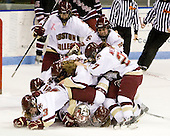 - The Boston College Eagles defeated the Harvard University Crimson 1-0 to win the Beanpot on Tuesday, February 10, 2009, at Matthews Arena in Boston, Massachusetts.