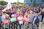 The large crowd who turned out for the Silent protest in regard to the mammogram services at Kerry General Hoapitalon Saturday