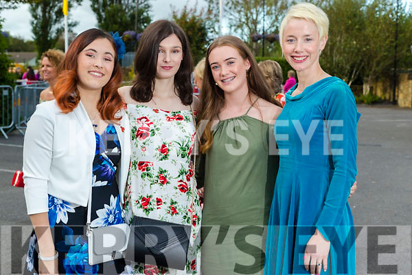 Michalina Gora,  Isobel  Keane, Cora Savage and Olivia Dineen (Tralee) at the Rose of Tralee fashion show at the dome on Sunday night.