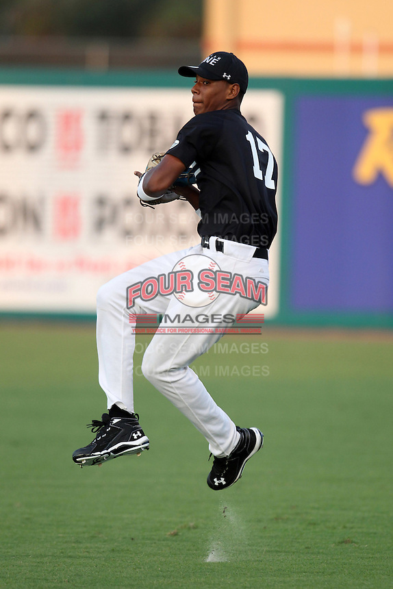 Andres DeAza during the Team One Futures Showcase East at Roger Dean Stadium on October 1, 2011 in Jupiter, Florida.  (Mike Janes/Four Seam Images)