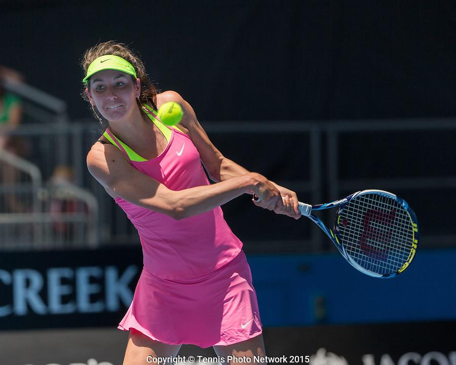Oceane Dodin (FRA)<br /> <br /> Tennis - Australian Open 2015 - Grand Slam ATP / WTA -  Melbourne Olympic Park - Melbourne - Victoria - Australia  - 21 January 2015.