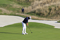 Dustin Johnson Team USA putts on the 14th green during Friday's Foursomes Matches at the 2018 Ryder Cup 2018, Le Golf National, Ile-de-France, France. 28/09/2018.<br /> Picture Eoin Clarke / Golffile.ie<br /> <br /> All photo usage must carry mandatory copyright credit (© Golffile | Eoin Clarke)
