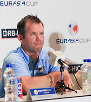 Paul Casey (Europe) during an interview after the Saturday Foursomes of the Eurasia Cup at Glenmarie Golf and Country Club on the 13th January 2018.<br /> Picture:  Thos Caffrey / www.golffile.ie