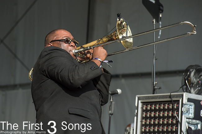 Ronell Johnson of The Preservation Hall Jazz Band at the 2015 Pilgrimage Music & Cultural Festival in Franklin, Tennessee.