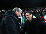 Crystal Palace's Roy Hogdson greets Watford's Marco Silva during the premier league match at Selhurst Park Stadium, London. Picture date 12th December 2017. Picture credit should read: David Klein/Sportimage