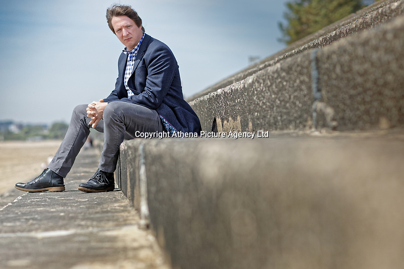 Portrait of landscape architect Nicholas Atherton of Natural Dimensions in Swansea Bay, Wales, UK. Tuesday 14 May 2019