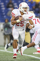 Annapolis, MD - October 8, 2016: Houston Cougars running back Dillon Birden (25) in action during game between Houston and Navy at  Navy-Marine Corps Memorial Stadium in Annapolis, MD.   (Photo by Elliott Brown/Media Images International)