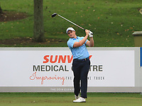 Paul Dunne (Europe) on the 8th tee during the Saturday Foursomes of the Eurasia Cup at Glenmarie Golf and Country Club on the 13th January 2018.<br /> Picture:  Thos Caffrey / www.golffile.ie