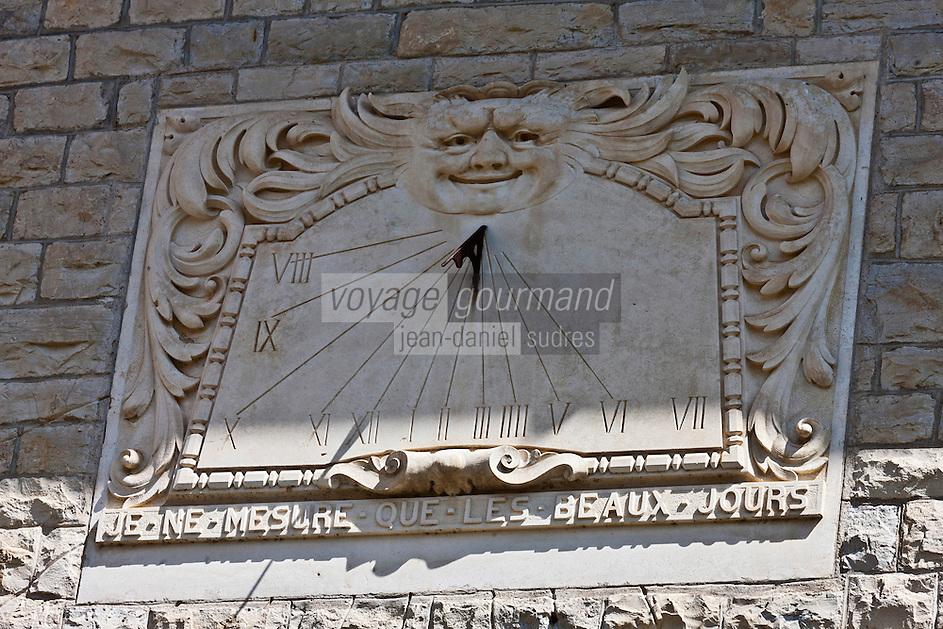 Europe/France/Aquitaine/64/Pyrénées-Atlantiques/Pays-Basque/Cambo-les-Bains: Cadran solaire de  la Villa Arnaga, Musée Edmond Rostand  - Le cadran solaire