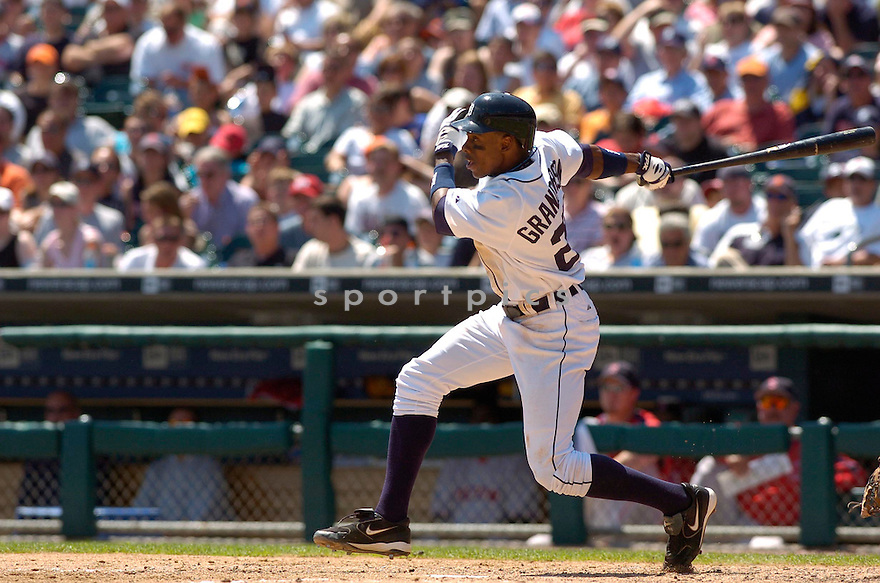 Curtis Granderson, of the Detroit Tigers, during their game against the  Boston Red Sox on June 6, 2006 in Detroit...Red Sox win8-3...David Durochik / SportPics