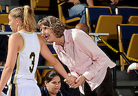 Florida International University associate head coach Inge Nissen during the game against Stetson University in the first round of the NIT.  FIU won the game 75-47 on March 15, 2012 at Miami, Florida. .