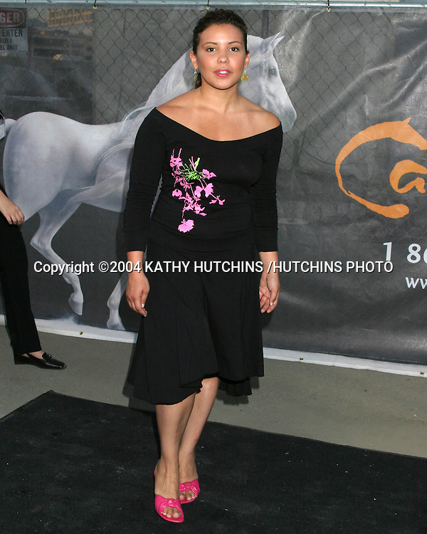 "©2004 KATHY HUTCHINS /HUTCHINS PHOTO.OPENING NIGHT OF ""CAVALIA: A MAGICAL ENCOUNTER BETWEEN HORSE AND MAN"".GLENDALE, CA.APRIL 27, 2004..JUSTINA MERCARDO.."