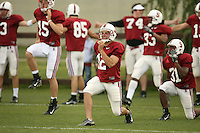 11 April 2007: Derek Belch during spring practice at the practice field in Stanford, CA.