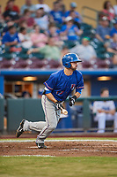 Nick Noonan (17) of the Round Rock Express bats against the Omaha Storm Chasers at Werner Park on May 27, 2018 in Papillion , Nebraska. Round Rock defeated Omaha 8-3. (Stephen Smith/Four Seam Images)