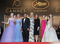 Elle Fanning, Kirsten Dunst, Colin Farrell, Nicole Kidman, Sofia Coppola, Angourie Rice &amp; Addison Riecke at the premiere for &quot;The Beguiled&quot; at the 70th Festival de Cannes, Cannes, France. 24 May 2017<br /> Picture: Paul Smith/Featureflash/SilverHub 0208 004 5359 sales@silverhubmedia.com