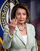 United States House Minority Leader Nancy Pelosi (Democrat of California) conducts her weekly press conference in the US Capitol in Washington, DC on Thursday, April 21, 2016.<br /> Credit: Ron Sachs / CNP