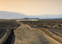 Roads in Death Valley National Monument, California. Desert, Dry, Desolate, Lonely, Environment. California USA Death Valley.