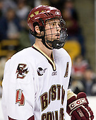 Mike Brennan (Boston College - Smithtown, NY) - The Boston College Eagles defeated the Harvard University Crimson 3-1 in the first round of the 2007 Beanpot Tournament on Monday, February 5, 2007, at the TD Banknorth Garden in Boston, Massachusetts.  The first Beanpot Tournament was played in December 1952 with the scheduling moved to the first two Mondays of February in its sixth year.  The tournament is played between Boston College, Boston University, Harvard University and Northeastern University with the first round matchups alternating each year.