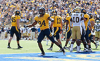 Shane Vereen celebrates his touchdown. The California Golden Bears defeated the UCLA Bruins 35-7 at Memorial Stadium in Berkeley, California on October 9th, 2010.