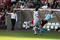 Pictured: Roberto Martínez Manager of Swansea city<br /> Coca Cola Championship, Swansea City FC v Burnley at the Liberty Stadium, Swansea. Saturday 20 September 2008.