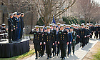 Apr. 9, 2014; 2014 ROTC Pass-In-Review ceremony.<br /> <br /> Photo by Matt Cashore/University of Notre Dame