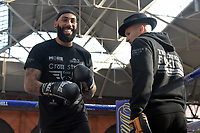 Luke Watkins during a Public Workout at Old Spitalfields Market on 24th October 2018