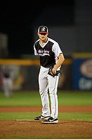 Erie SeaWolves pitcher Will Vest (8) during an Eastern League game against the Portland Sea Dogs on June 17, 2019 at UPMC Park in Erie, Pennsylvania.  Portland defeated Erie 6-3.  (Mike Janes/Four Seam Images)