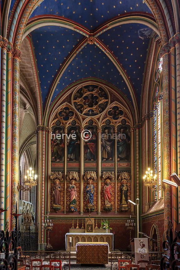 France, Haute-Vienne (87), Limoges, la cathédrale Saint-Étienne, chapelle du Saint Sacrement // France, Haute Vienne, Limoges, the Saint Etienne cathedral, Holy Sacrament chapel