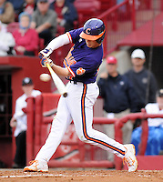 Infielder Steve Wilkerson (17) of the South Carolina Gamecocks in a game against the Clemson Tigers on March 3, 2012, at Carolina Stadium in Columbia, South Carolina. South Carolina won, 9-6. (Tom Priddy/Four Seam Images)
