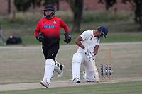 Hornchurch claim the second Buckhurst Hill wicket during Hornchurch CC vs Buckhurst Hill CC (batting), Essex Cricket League Cricket at Harrow Lodge Park on 25th July 2020