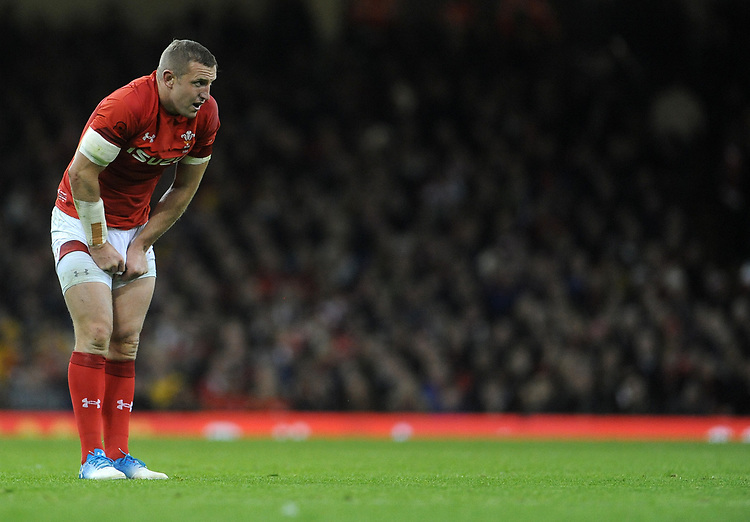 Wales' Hadleigh Parkes during the game <br /> <br /> Photographer Ian Cook/CameraSport<br /> <br /> Under Armour Series Autumn Internationals - Wales v Australia - Saturday 10th November 2018 - Principality Stadium - Cardiff<br /> <br /> World Copyright © 2018 CameraSport. All rights reserved. 43 Linden Ave. Countesthorpe. Leicester. England. LE8 5PG - Tel: +44 (0) 116 277 4147 - admin@camerasport.com - www.camerasport.com