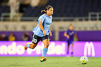 Orlando, FL - Saturday September 10, 2016: Samantha Kerr during a regular season National Women's Soccer League (NWSL) match between the Orlando Pride and Sky Blue FC at Camping World Stadium.