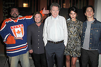 """LOS ANGELES - SEP 16:  Kevin Smith, Haley Joel Osment, Michael Parks, Genesis Rodriguez, Justin Long at the """"Tusk"""" Los Angeles Premiere at Vista Theater on September 16, 2014 in Los Angeles, CA"""