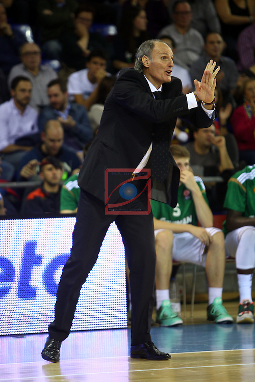 Euroleague Basketball-Regular Season Round 5.<br /> FC Barcelona vs Panathinaikos Athens: 78-69.<br /> Dusko Ivanovic.
