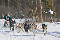 Musher Jason Dunlap, 2007 Open North American Championship sled dog race (the world's premier sled dog sprint race) is held annually in Fairbanks, Alaska.