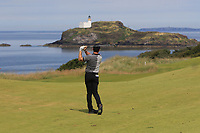 Rory McIlroy (NIR) on the 4th fairway during Round 1 of the Aberdeen Standard Investments Scottish Open 2019 at The Renaissance Club, North Berwick, Scotland on Thursday 11th July 2019.<br /> Picture:  Thos Caffrey / Golffile<br /> <br /> All photos usage must carry mandatory copyright credit (© Golffile | Thos Caffrey)