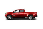 Car Driver side profile view of a 2015 Chevrolet Colorado LT Crew Cab Long Box 4 Door Truck Side View