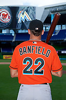 Miami Marlins Will Banfield (22) poses for a photo after a Florida Instructional League game against the Washington Nationals on September 26, 2018 at the Marlins Park in Miami, Florida.  (Mike Janes/Four Seam Images)