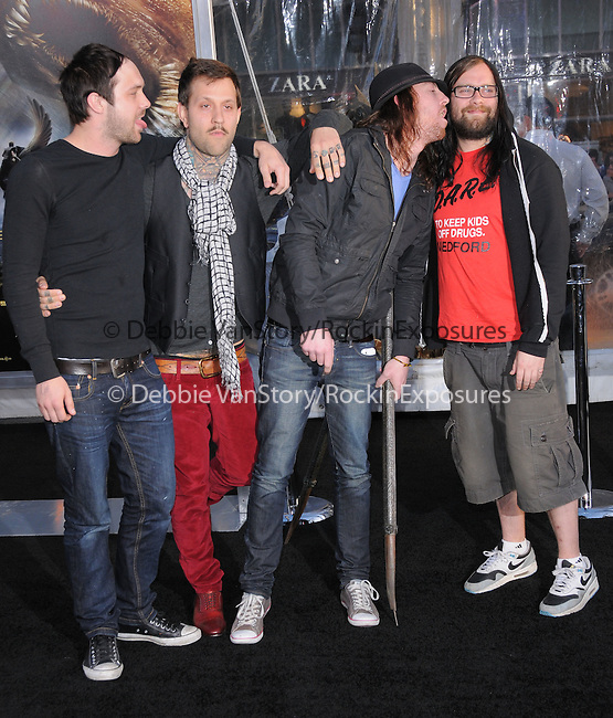The Used at The Warner Bros. Pictures L.A. Premiere of Clash of The Titans held at The Grauman's Chinese Theatre in Hollywood, California on March 31,2010                                                                   Copyright 2010  DVS / RockinExposures
