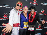 LAS VEGAS, NV - December 2 :  Kate Gosselin WITH ELVIS IMPERSONATOR RUNNERS pictured at Rock and Roll Marathon & 1/2 on The Las Vegas Strip at Night on December 2, 2012 in Las Vegas, Nevada. © Kabik/ Starlitepics /MediaPunch Inc. ©/NortePhoto /NortePhoto©