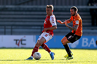Kyle Dempsey of Fleetwood Town and James Dunne of Barnet during Barnet vs Fleetwood Town, Emirates FA Cup Football at the Hive Stadium on 10th November 2019