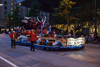 Berried Treasure Float, Seafair Torchlight Parade 2015, Seattle, Washington State, WA, America, USA.