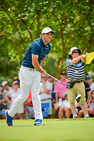 Rory McIlroy (NIR) watches his tee shot on 11 during Sunday's final round of the PGA Championship at the Quail Hollow Club in Charlotte, North Carolina. 8/13/2017.<br /> Picture: Golffile | Ken Murray<br /> <br /> <br /> All photo usage must carry mandatory copyright credit (&copy; Golffile | Ken Murray)