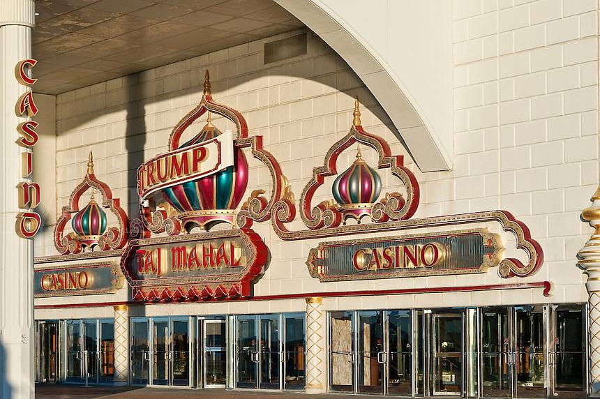 Exterior of Trump Taj Mahal casino, Atlantic City, New Jersey, NJ, USA