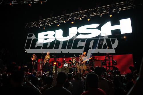 BUSH - L-R: Chris Traynor, Gavin Rossdale, Robin Goodridge, Corey Britz - performing live at the 2012 Epicenter Festival at Verizon Wireless Amphitheare in Irvine, CA USA - September 22, 2012. Photo © Kevin Estrada / Iconicpix